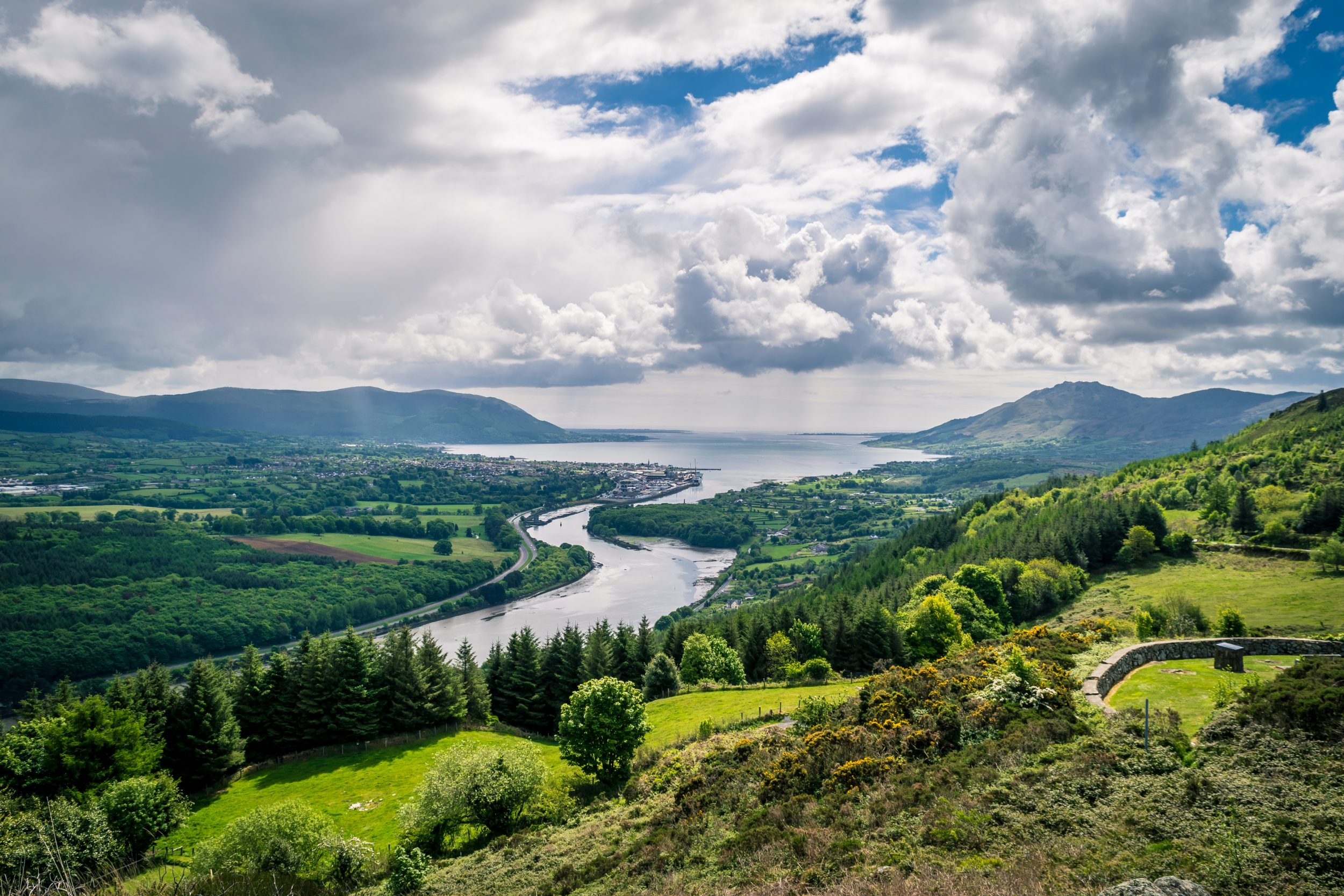 View,From,The,Flagstaff,View,Point,Of,Carlingford,Lough,Warrenpoint